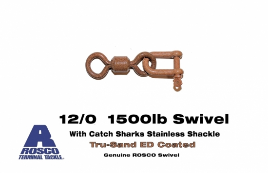 Rosco 12/0 Swivel and Stainless Shackle Combo -  ED Coated Tru-Sand™