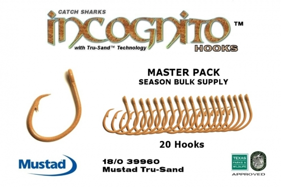 NEW 18/0 Bulk Master Pack 20X Non-Offset Circle Hook Tru-Sand™