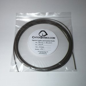 """3/32""""-1/8"""" 7x7 SS Clear Vinyl Coated Cable  - 25 feet"""