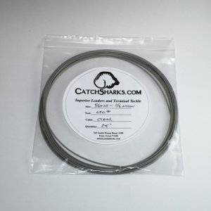 """1/16""""-5/64"""" 7x7 SS Clear Nylon Coated Cable - 25 feet"""