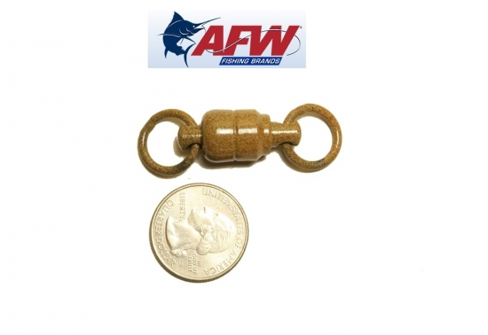 AFW Large Brass Ball Bearing Swivels -  ED Coated™ Tru-Sand™  (660lb 2-pack)