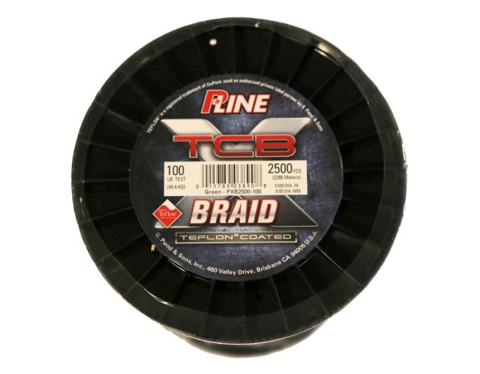 P-Line X TCB Braided Line  100lb - 2500yds