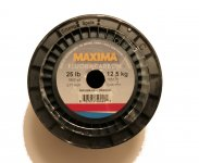 Maxima Bulk Service Spool Fluorocarbon 25lb - 1800 yds