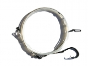 24' Standard Heavy Invisi-clear Shark Leader with 20/0 Circle Hook