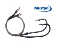 Mustad 16/0 7731 (ED Coated) Hook Drops - 5' - Set of 2  ME Black