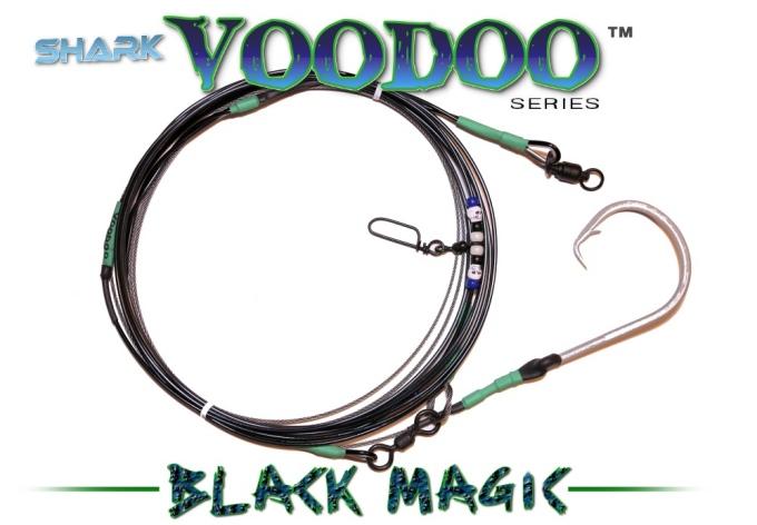 Shark Voodoo™ (Black Magic Edition) 28' Voodoo-Glow™ Shark Leader