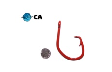 CA 20/0 ED Coated (BBR) Red Non-Offset Circle Hook - 5 Pack