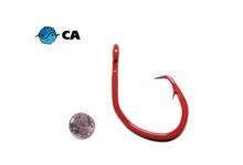 CA 20/0 ED Coated (BBR) Red Offset Circle Hook - 5 Pack