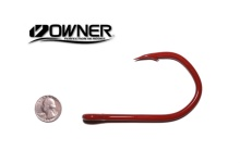 Owner Jobu 12/0 Big Game Hook ED Coated (BBR - Red)