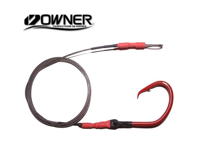 Owner Super Mutu 14/0 (ED Coated) Hook Drop - 5'  (BBR - Red)