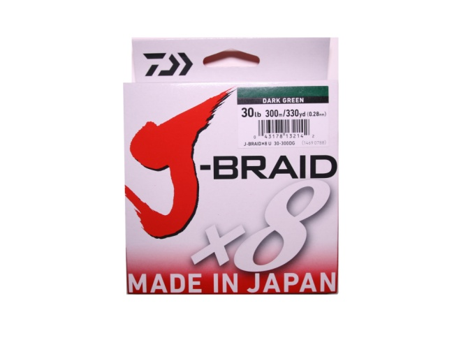 Daiwa J Braid 30lb - 330yd Green