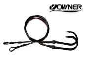 Owner Jobu 12/0 (ED) Hook Drops BLACKOUT Edition - 5' - Set of 2 (ME™ Black)