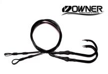 Owner Jobu 12/0 (ED) Hook Drops BLACKOUT Edition - 5' - Set of 2 (ME™ Black)