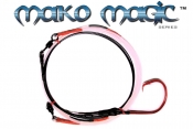 Mako-Magic™ Offshore Precision Shark Leader (24/0 ED BBR - Baitfish Blood Red)