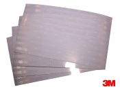 "3M White Prismatic Reflective Tape Sheets - 4 Sheets 7""x12""  (for floats, camps etc)"