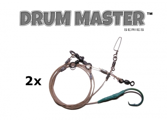Drum Master Precision Leaders - BCP (Blue Crab Pattern™) - 2 Pack (3-way)