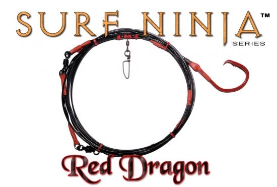 Surf Ninja™ (Red Dragon Edition) 20' Fixed 20/0 Shark Leader