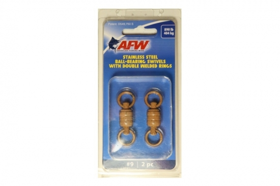 AFW Large Stainless Ball Bearing Swivels -  ED Coated™ Tru-Sand™  (890lb 2-pack)