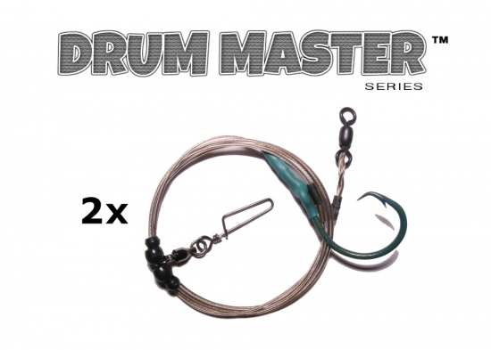 Drum Master Precision Leaders - BCP (Blue Crab Pattern™) - 2 Pack (Inline)