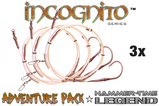 Adventure Pack -  Hammer-Time™ Series (Legend Edition™) 3X (25' Fixed Mustad 20/0 with CS Barb-Reduction™ in Tru-Sand™)