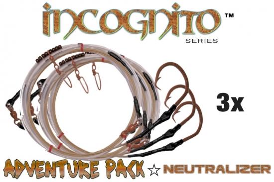 Adventure Pack - Incognito Series (Neutralizer™ Edition) 3X (20' All-Around Shark Leader 20/0 Tru-Sand™)