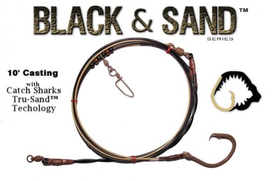 Black & Sand™ Series  10' Med/Heavy Casting Shark Leader - 18/0 TS™