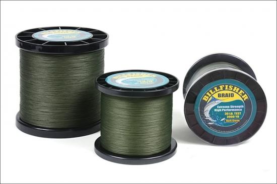 Billfisher Bulk Spool 50lb 3000yd, Dark Green