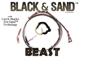 Black & Sand (Beast) - 40' Heavy Shark Leader w/ Tru-Sand Components