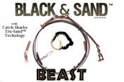 Black & Sand (Beast) - 40' Heavy Shark Leader w/ Tru-Sand Components