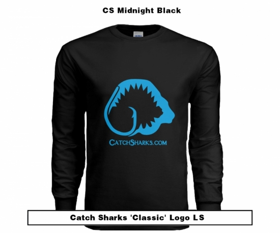 Catch Sharks Classic Logo - Midnight Black/Blue Short Sleeve T-Shirt