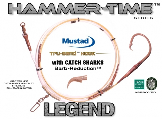 DEPLOYMENT Leader - Hammer-Time™ Series (Legend Edition™) 25' Fixed Mustad 20/0 with CS Barb-Reduction™ in Tru-Sand™
