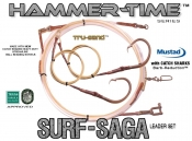 DEPLOYMENT Leader - Hammer-Time™ Series (Surf-Saga Edition™) 32' Precision Tru-Sand™ Leader Set - 2x Drops