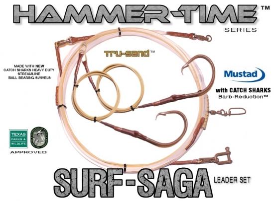 Hammer-Time™ Series (Surf-Saga Edition™) 32' Precision Tru-Sand™ Leader Set - 2x Drops