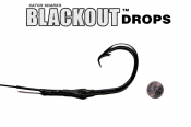 20/0 (ED coated ME™ Black) Circle Hook BLACKOUT Drop - 4' Non-Offset