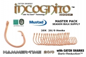 NEW Hammer-time™ 20/0 Bulk Master Pack 20X Non-Offset Circle Hook Tru-Sand™