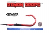 Owner Jobu 12/0 Hook Demon Drops - 5' - Set of 2 (Baitfish Blood Red)