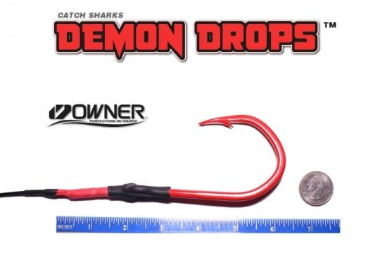 Owner Jobu 12/0 Hook Demon Drops - 5' - Set of 2 (Baitfish Blood Red)