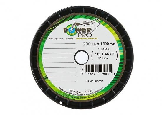 Power Pro Spectra Braid - 200lb 1500yds Bulk Spool  (Yellow)