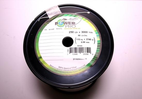 Power Pro Spectra Braid - 250lb 3000yds Bulk Spool  (White)