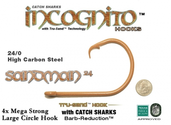 Catch Sharks Sandman24 Legal 24/0 Circle - Tru-Sand and CS Barb Reduction