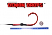 20/0 Stainless Sea Dagger Circle Hook Demon Drop - 4'  (Baitfish Blood Red)